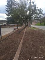Výsadba zeleně před obecním úřadem - Jaro 2021